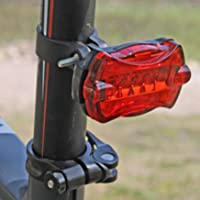JSG Accessories Wireless Bike Computer Odometer Average Speed Maximum Speed Speedo Cycle Bicycle Red Tail LED Light