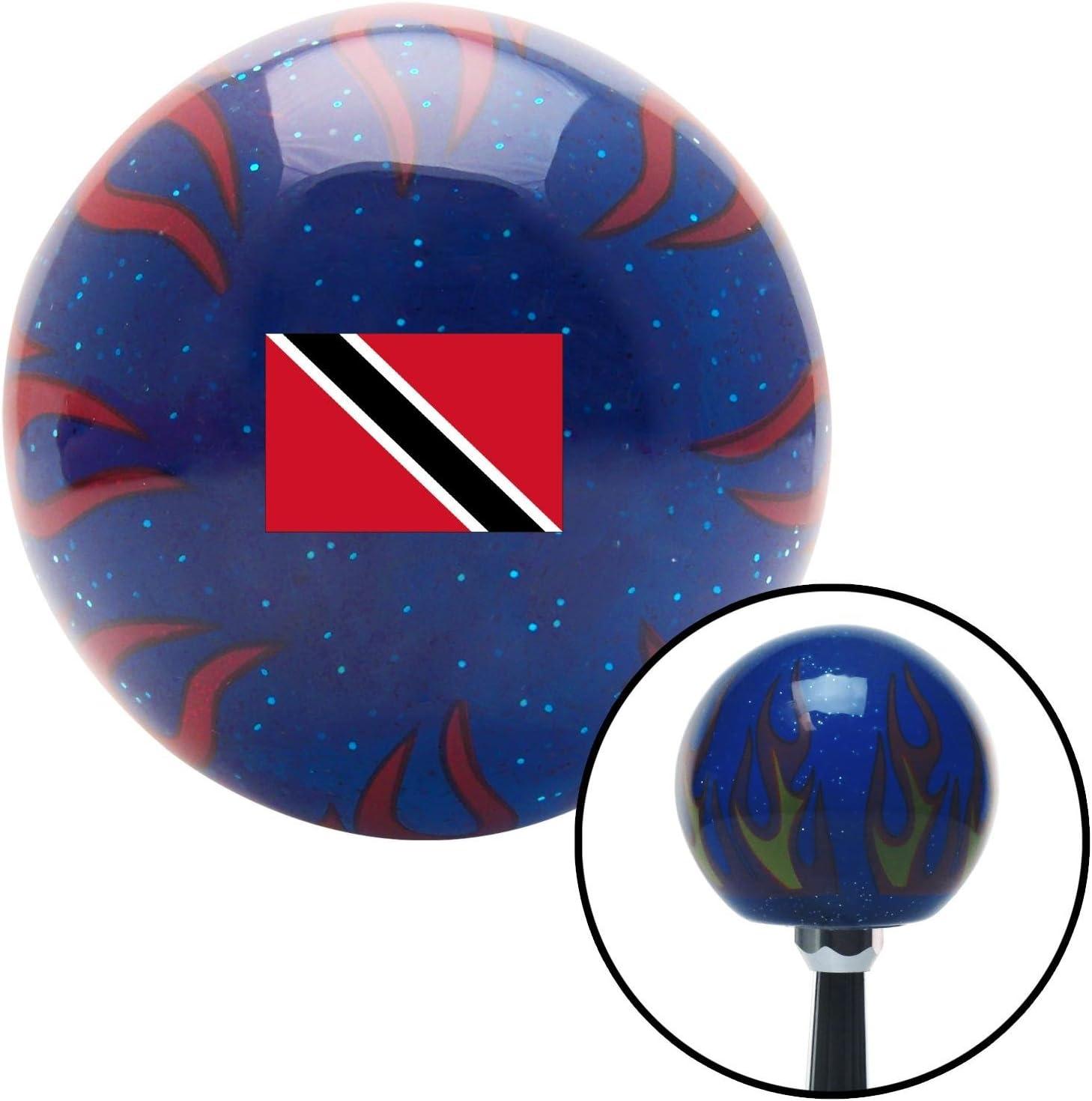 Trinidad Blue Flame Metal Flake with M16 x 1.5 Insert American Shifter 310563 Shift Knob