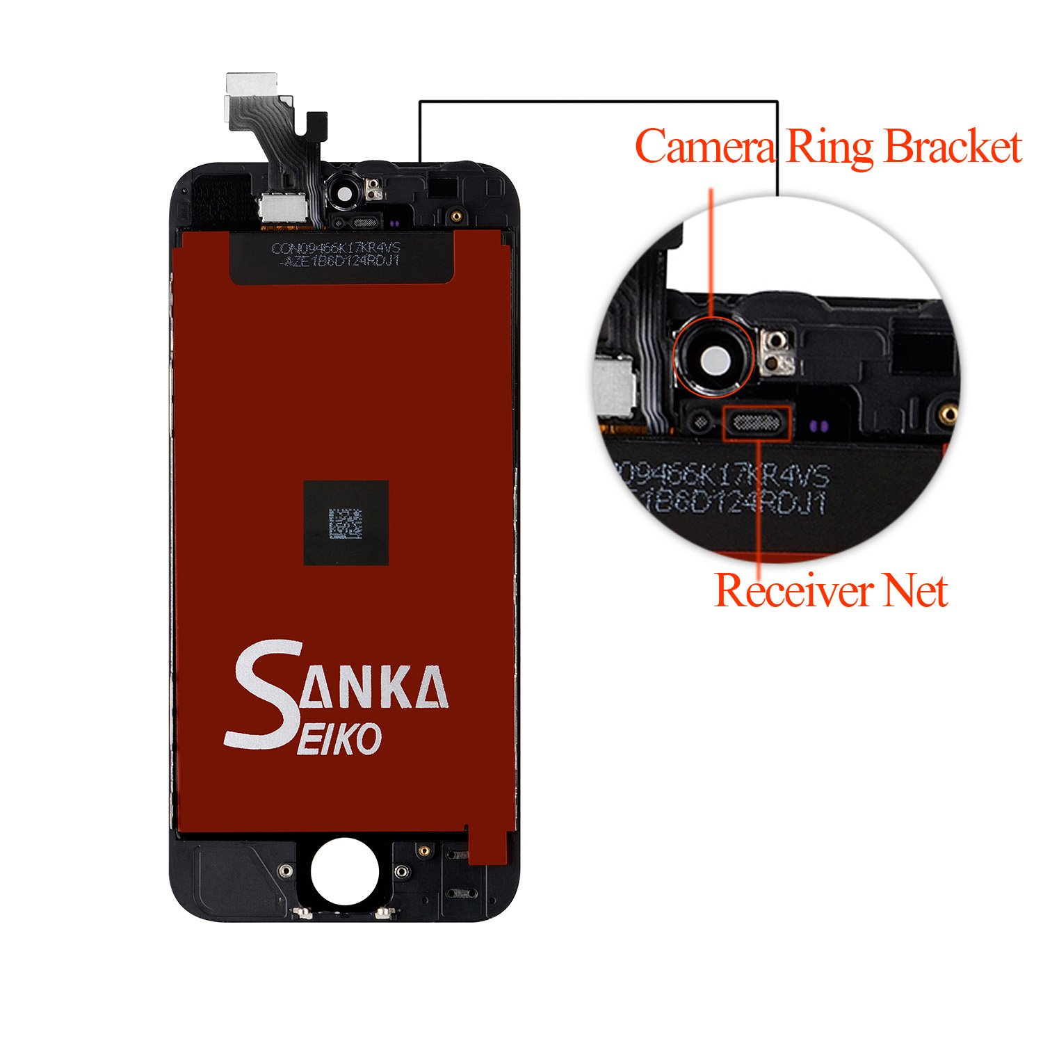 SANKA iPhone 5C LCD Screen Replacement, Digitizer Display Retina Touch Screen Glass Frame Assembly for iPhone 5C - Black (Free Tools Included) by SANKA (Image #3)