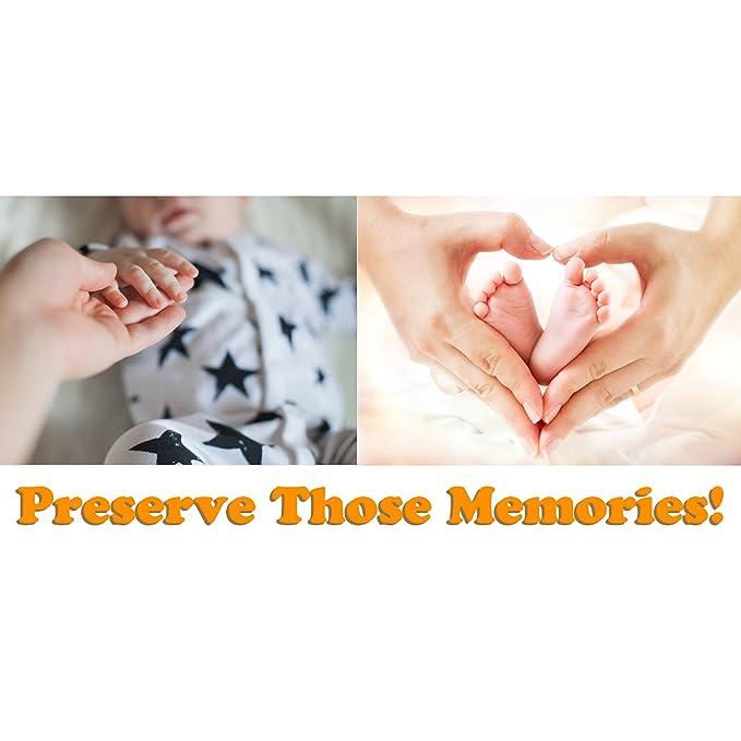 Marco de Fotos para Huella de Pie y Mano - Molde de Madera - Impresiones de Bebé, Recién Nacido, Animales y Mascotas - Accesorio para Modelado - Decoración, ...