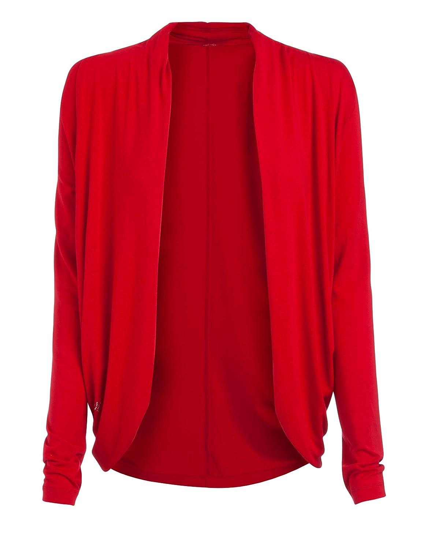 Jockey Damen Jacket Jack Modal Blazer Unifarben - Größe: XXL - Farbe: Rot