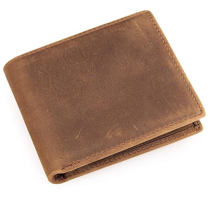 180a10c5dc13 Men's RFID Blocking Vintage Italian Genuine Leather Slim Bifold ...