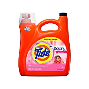 An Item of Tide Plus Downy April Fresh Scent Liquid Laundry Detergent (150 oz, 110 loads) - Pack of 1