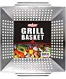 GRILLART Grill Basket for Vegetables & Meat – Large Grill Wok/Pan for the Whole Family - Heavy Duty Stainless Steel…