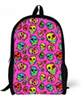 Cool 3D may skull face Children 16-inch School Book Bag Printing Backpacks For Kids,Boys or Girls