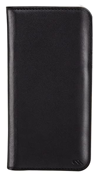 on sale df7f4 260ad Case-Mate iPhone 7 Wallet Case - Wallet Folio - for iPhone 7 / 6s / 6 -  Black Leather