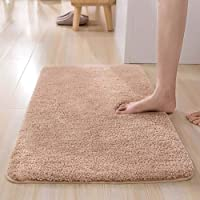 "ESUPPORT Bath Mats Rug Soft Natural Floor Carpet Non Slip Outdoor Entrance Doormats,15.7"" x 23.6""/Beige"