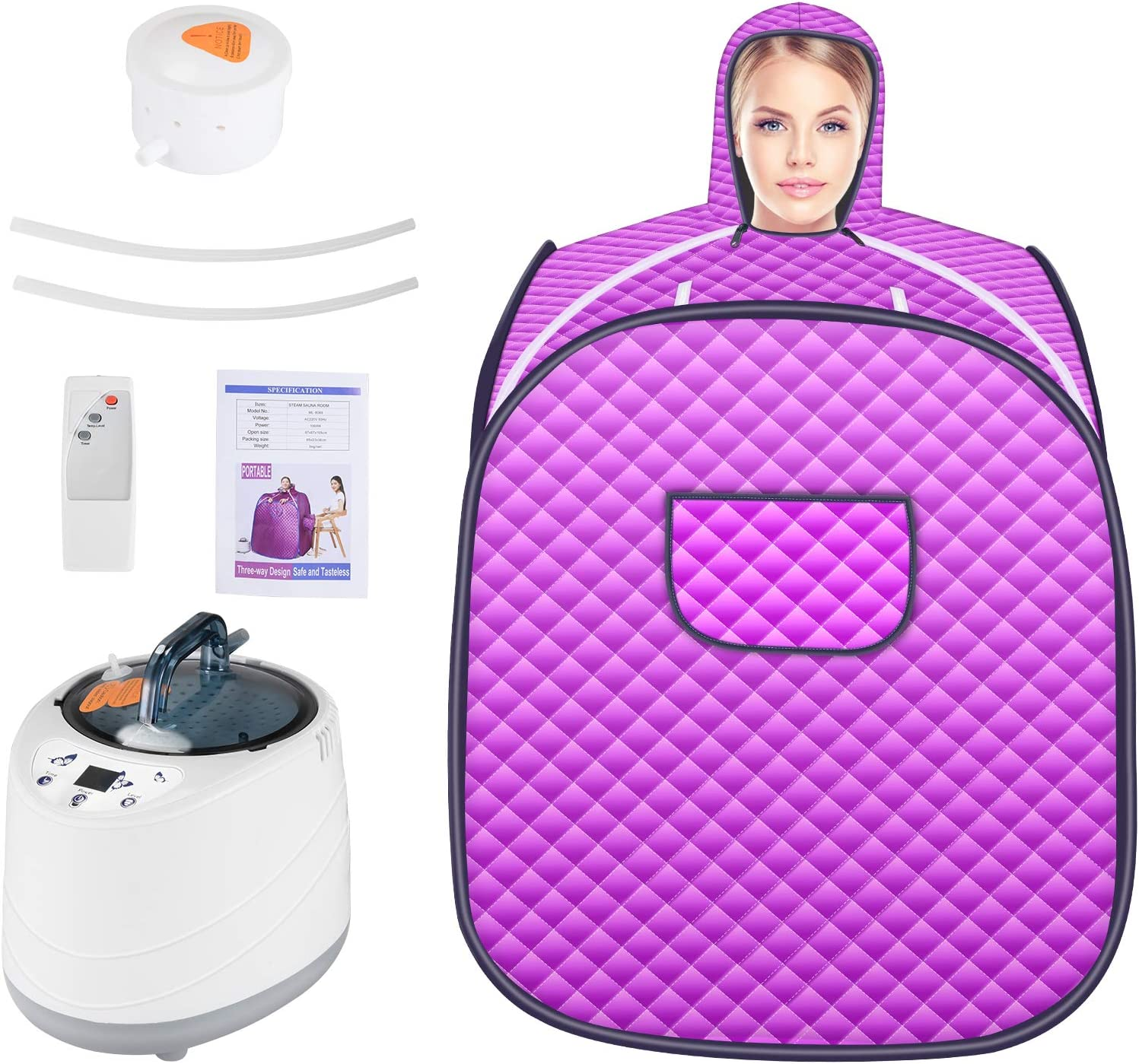 TOPQSC Portable Personal Sauna Tent Full Body Spa,Steam Sauna, Sauna Spa Machine with Remote Control 2L Steamer for Weight Loss Detox Relaxation Slimming,Steam at Home Sauna.