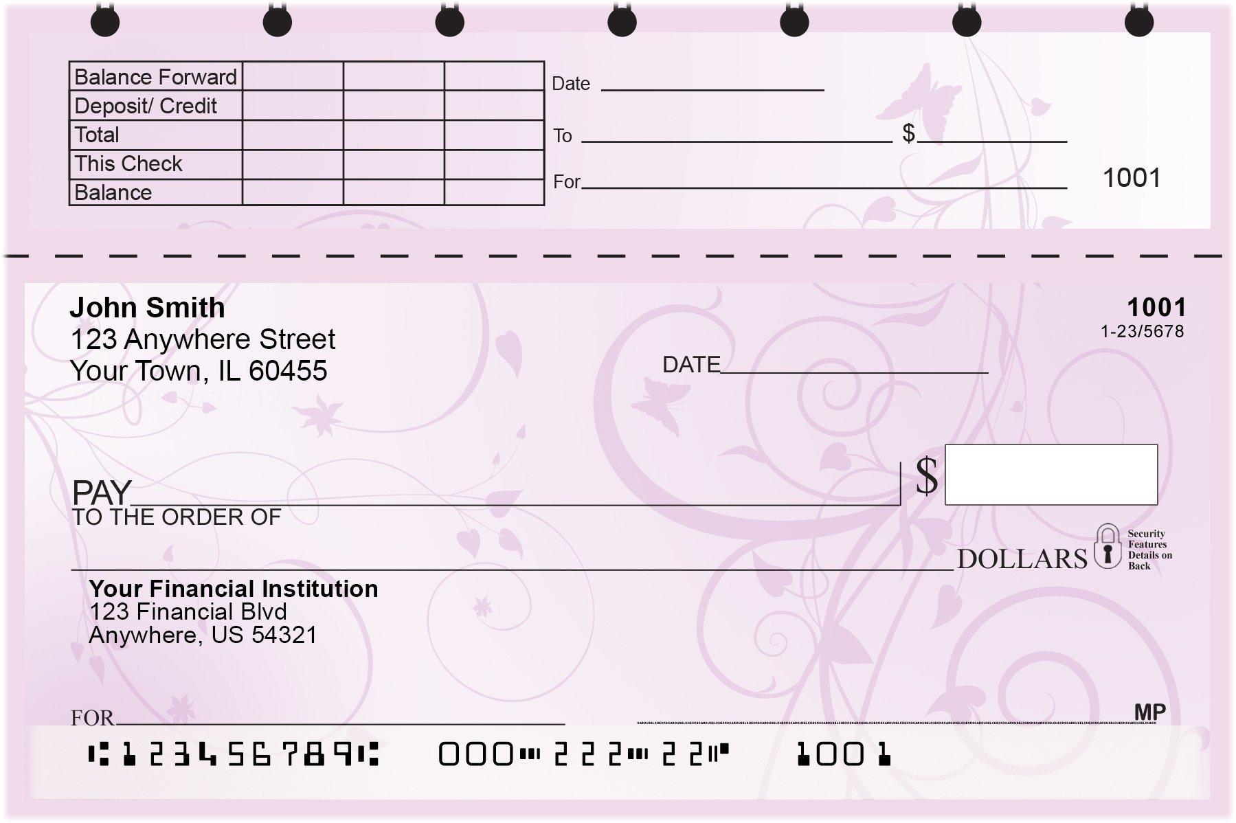 Vine Top Stub Personal Checks by CAROUSELCHECKS (Image #2)
