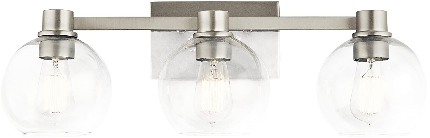 Kichler Lighting 45894NI Three Light Bath from The Harmony Collection, Brushed Nickel