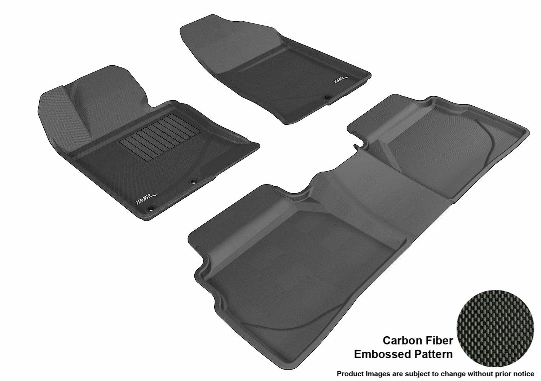 Tan 3D MAXpider Second Row Custom Fit All-Weather Floor Mat for Select Hyundai Sonata Models L1HY03821502 Kagu Rubber