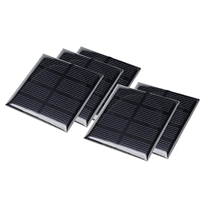 uxcell 5Pcs 2V 160mA Poly Mini Solar Cell Panel Module DIY for Phone Light Toys Charger 60mm x 60mm: Automotive