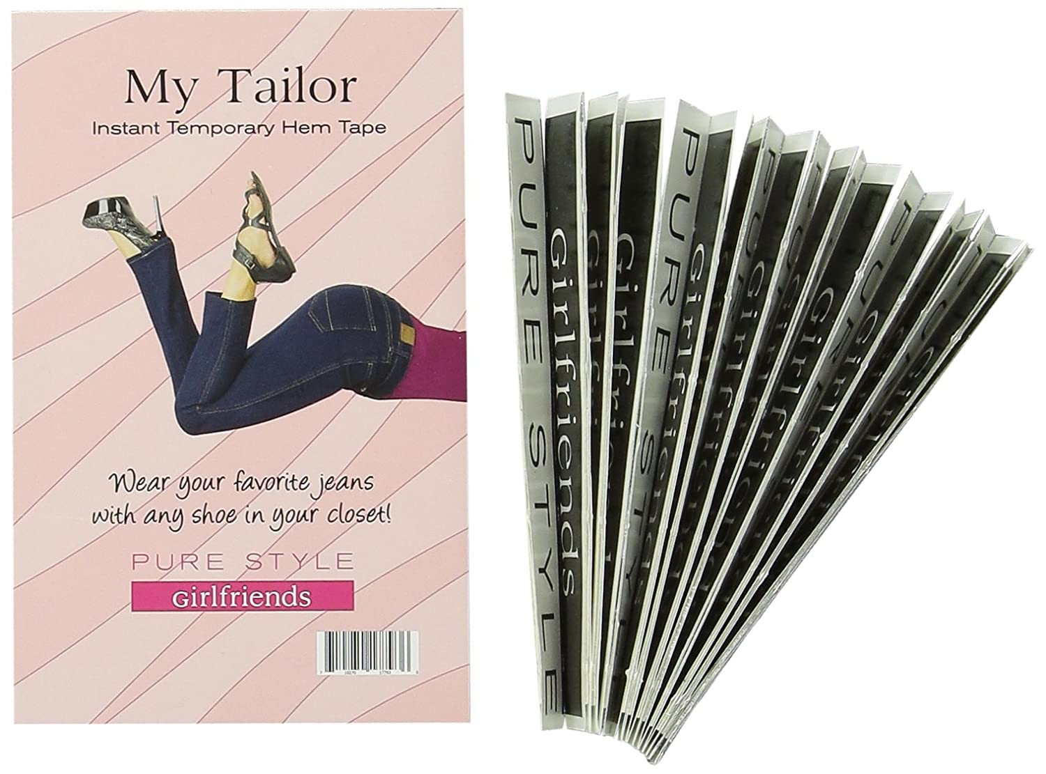 PURE STYLE Girlfriends Women's My Tailor Instant Hem Tape Clear One Size 77936