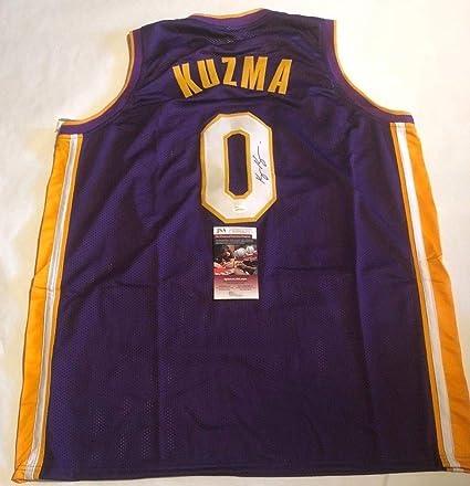 separation shoes 963ee 78984 Kyle Kuzma Lakers Autographed Signed Custom Kuzma Kid Purple ...