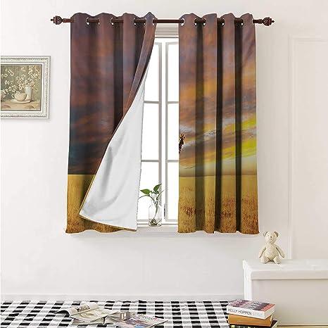 Amazoncom Flyerer Giraffe Decor Curtains By Animal In