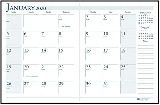 product image for House of Doolittle 2020 Economy Calendar Planner, Monthly, Black Cover, 7 x 10 Inches, December - January (HOD260602-20)