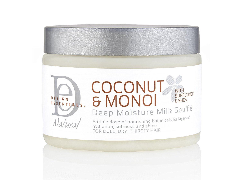 Design Essentials Deep Moisture Milk Souffle for Insane Softness and Moisture Penetration, Coconut & Monoi Collection-12oz.