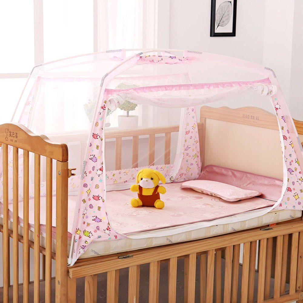 Amazon.com : LOHOME® Zippered Baby Kid Children Nursery Bed Crib ... for Folding Mosquito Net For Baby  54lyp