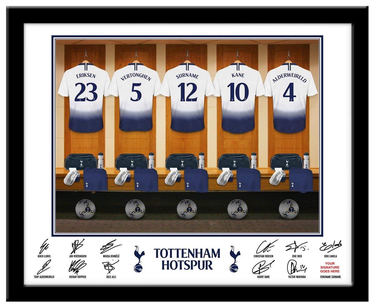 Tottenham Hotspur Home Football Shirt Personalised Name Wall Art Print Spurs Kit