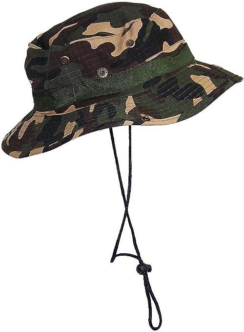 TININNA Camuflaje Sombrero Táctico SWAT Color Wear Woodland Camo ...