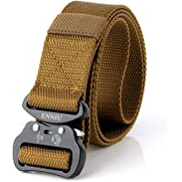 Tactical belt-outdoor tactical belt men's Heavy Duty Adjustable Military Style Nylon Belts with Aluminum Buckle 1.5""