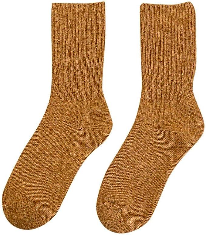 VJGOAL Calcetines de algodón para mujer Moda casual de invierno ...