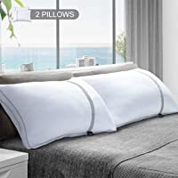BedStory 2 Pack Sleeping Pillows, Hotel Pillow Down Alternative Dust Mite Resistant & Hypoallergenic, Standard Size Bed Pillow for Neck/Shoulder Pain/Allergy Sufferers and Back/Stomach/Side Sleepers
