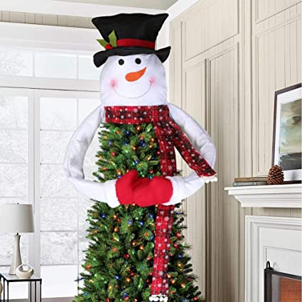 Aytai Snowman Christmas Tree Topper Large Tree Topper For Christmas Tree Decoration