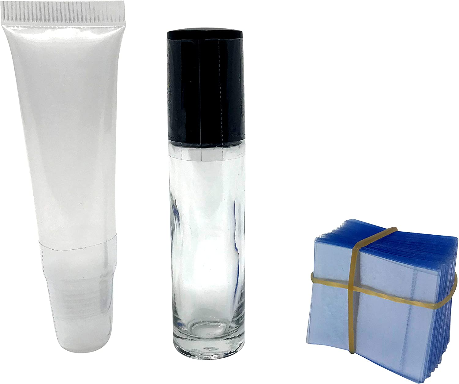 Clear Perforated Shrink Band for Lip Gloss Squeeze Tubes and Small Roll-On Bottles 250 Pack
