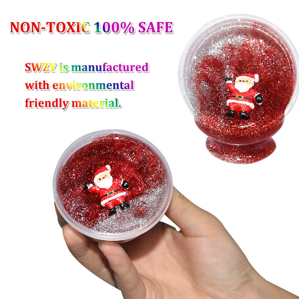 6 X Creative Fruit Crystal  Mud Putty Jelly Slime Sensory Toys Party Bag Xmas
