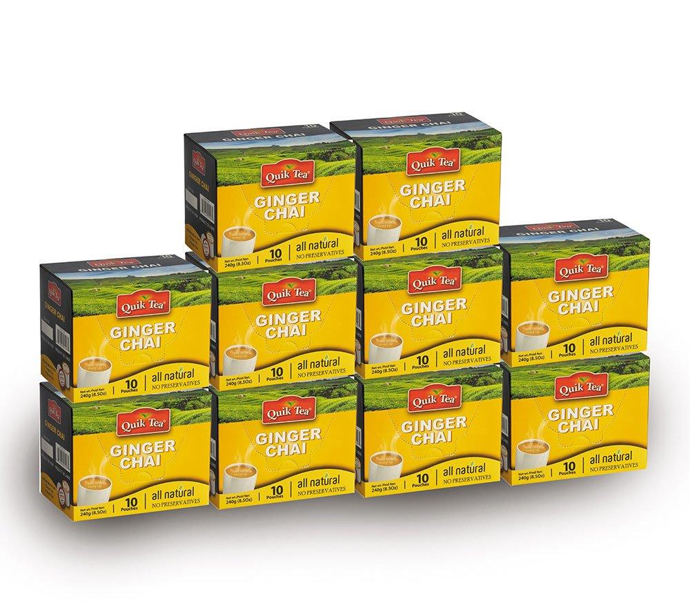QuikTea Chai Latte, Ginger, 100 Count, 2400 Gram