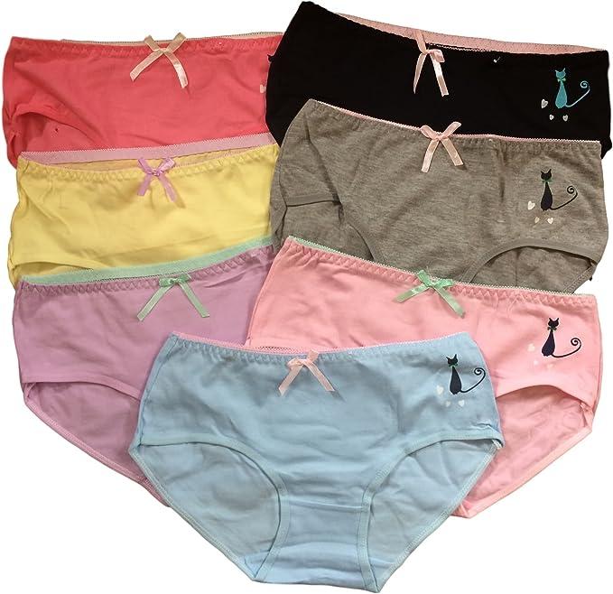 146-176 . una dimensione a montare 11-16 anni C/&C adolescente ragazze Intimo 7 Pack colore misto Slip//Mutande