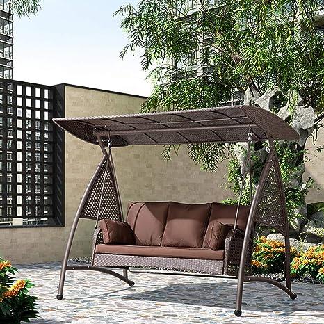 HYYTY-Y Sillón de Exterior con sombrilla y Techo Ajustable de ratán con sillón Acolchado 610-YY: Amazon.es: Juguetes y juegos