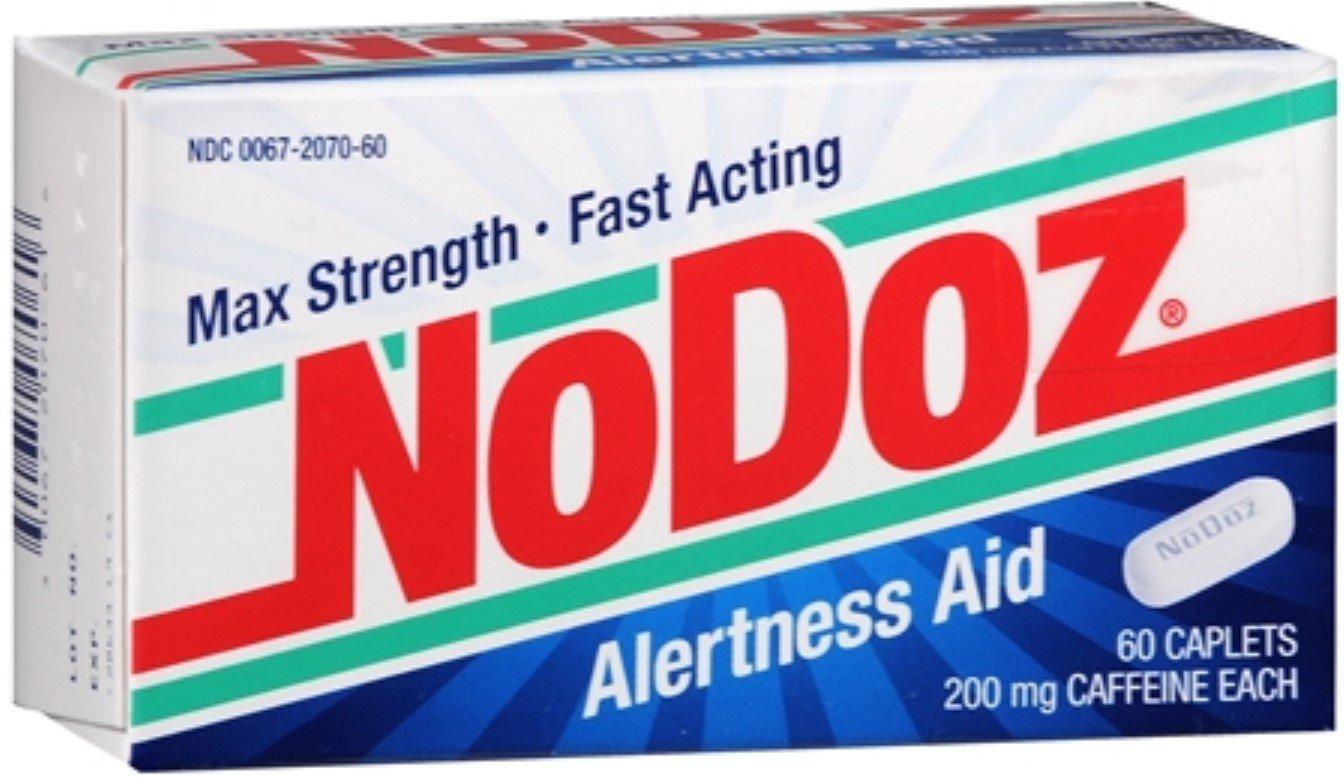 NoDoz Max Strength Alertness Aid Caplets 60 ea (Pack of 12)