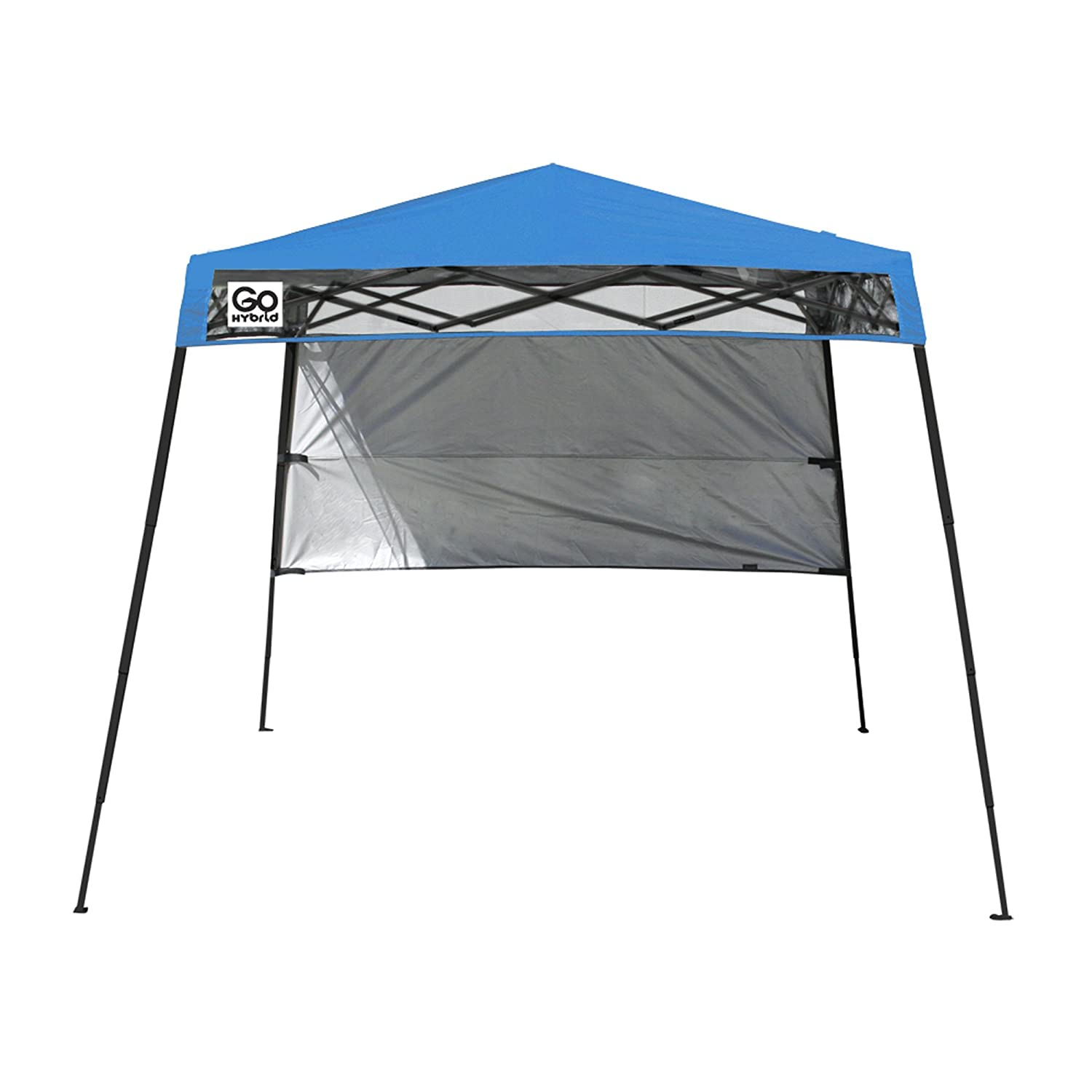 amazoncom quik shade go hybrid compact slant leg backpack canopy blue 7 x 7 foot pack of 2 garden outdoor - Compact Canopy 2016