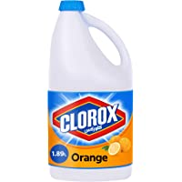 Clorox Orange Scented Liquid Bleach, Household Cleaner and Disinfectant, Kills 99.9% Germs and Viruses, 1.89L