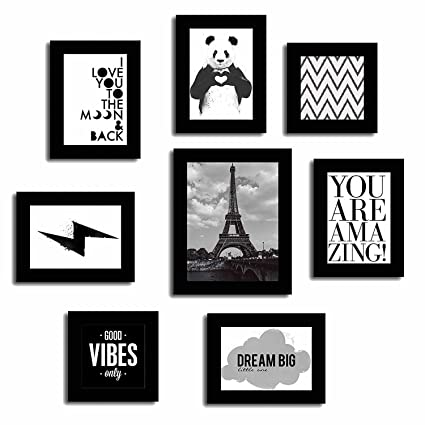 PRINTELLIGENT City View Paris Black and White Theme Based Frame ...