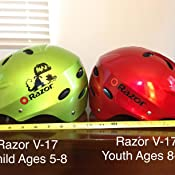 Amazon.com: Razor V-17 - Casco deportivo para niño: Sports ...