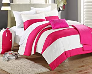 Chic Home 8-Piece Ruby Comforter Set with Shams Decorative Pillows and Sheet Set, Twin