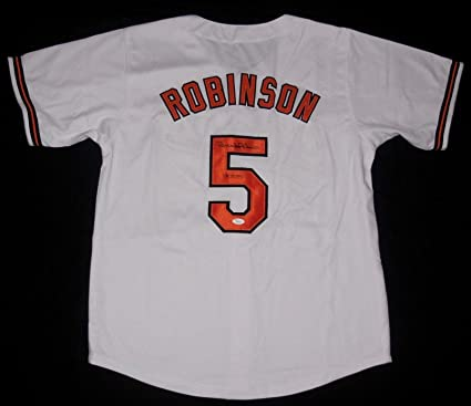 b8cabd6a6 Image Unavailable. Image not available for. Color  Signed Brooks Robinson  Jersey ...
