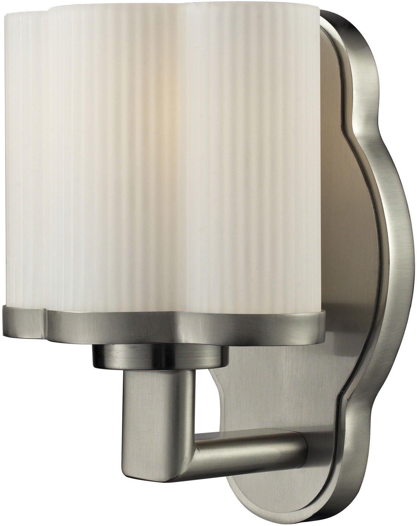 Elk Lighting Harbridge 1-Light Steel Bath Bar, Satin Nickel