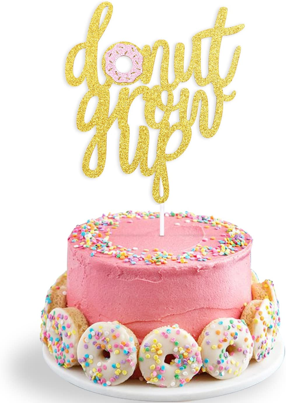 Enjoyable Amazon Com Double Sided Glitter Donut Grow Up Cake Topper Kids Personalised Birthday Cards Rectzonderlifede