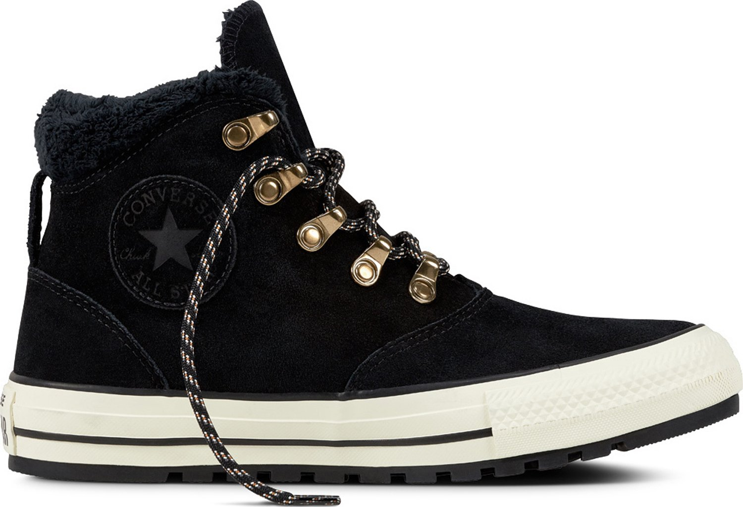 Converse Womens Chuck Taylor All Star Ember Boot Hi Black Egret Suede Trainers 8 US