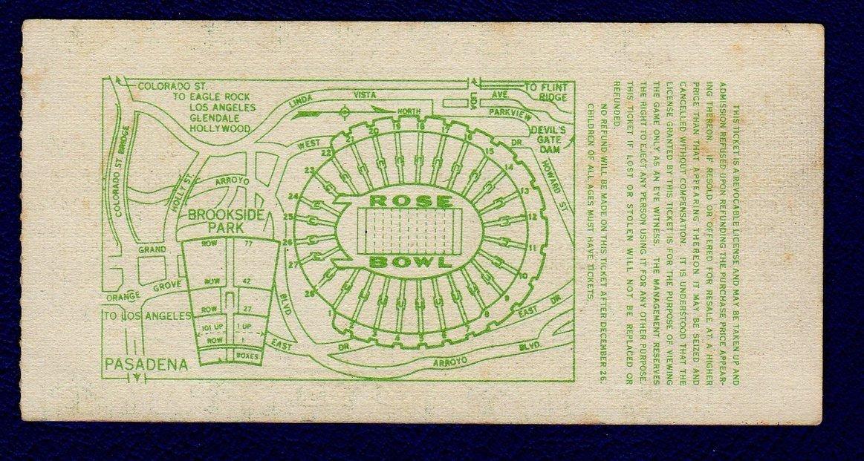 1974 Rose Bowl Ticket Illinois Fighting Illini vs UCLA Bruins 16615