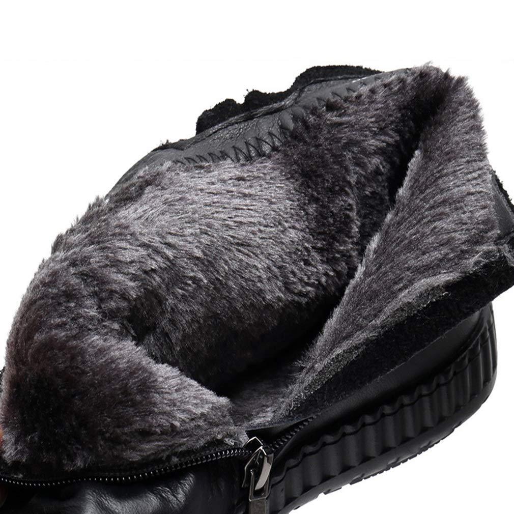 Damenstiefeletten warm halten halten halten bequem lässig flach im mittleren Alter Baumwolle Stiefel Damen Winter Plus Samtleder Chelsea-Stiefel (Farbe   B Größe   39) 01ad18