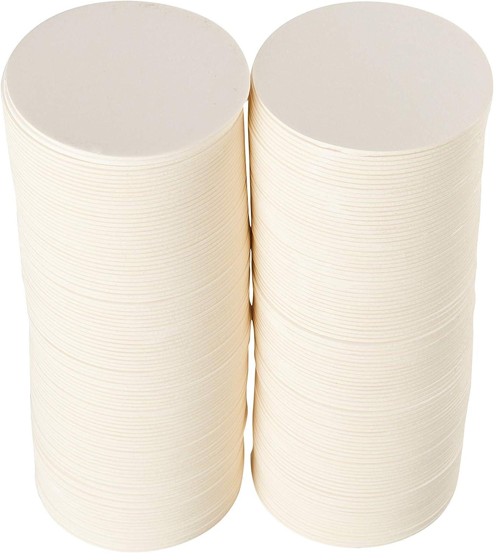 para bebidas dise/ños de azulejos zen y mini tablero de arte caja de 125 proyectos de manualidades ZEZAZU Posavasos redondos de papel blanco pesado de 9 cm papel de prensa