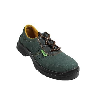 Siili Safety - Calzado de protección de Piel para hombre verde verde, color verde, talla 45 EU