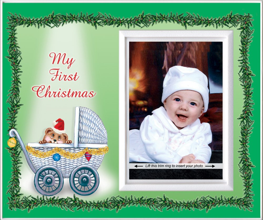 Amazon.com : Baby\'s First Christmas Picture Frame Gift : Childrens ...
