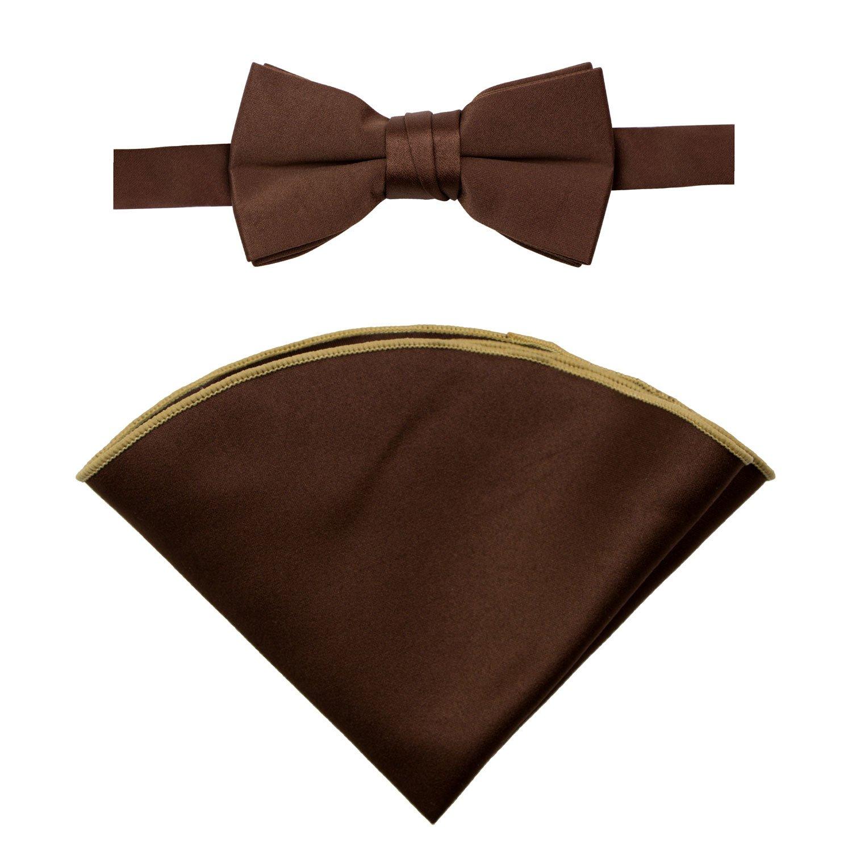 Spring Notion Boys' Satin Bow Tie and Handkerchief Set CLN8103-SNS