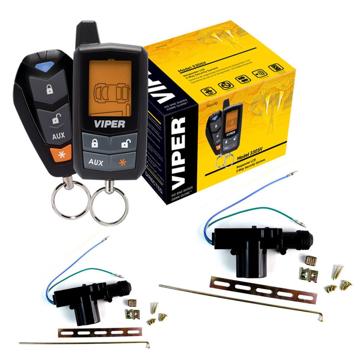 3305V DEI Viper 2 way Keyless Entry Security Alarm System With 2 Door Locks